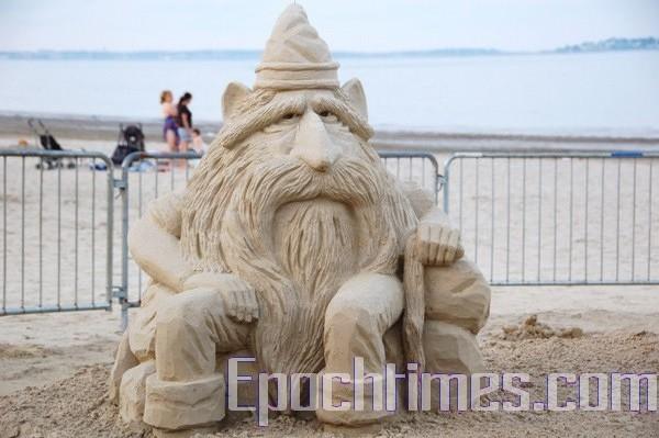 Фестиваль песчаных скульптур.Фото The Epoch Times