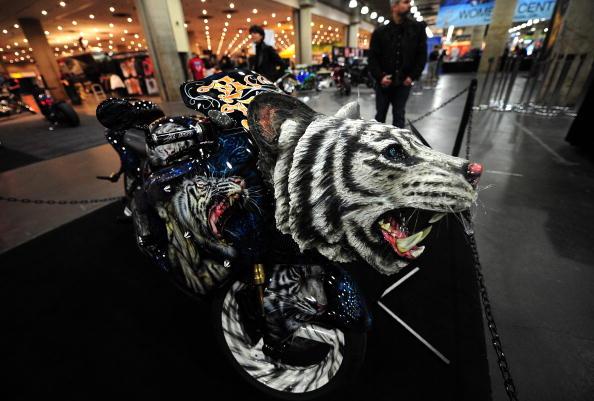 Международная выставка мотоциклов. Нью-Йорк, 22 января 2010. Фото: Эммануэль Дюнан / AFP / Getty Images