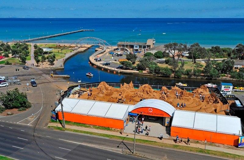Прибрежная зона Франкстона, Мельбурн, Австралия. Фото: sandsculptingaustralia/facebook.com