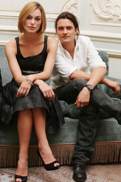 Актриса Кира Найтли и актер Орландо Блум на фотосессии фильма «Пираты Карибского моря» в Лондоне, Англия. Фото: MJ Kim/Getty Images