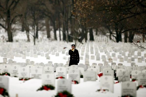Церемония похорон сержанта Даниэля Фрэйзера, погибшего в Афганистане. США. Фото: Chip Somodevilla/Getty Images