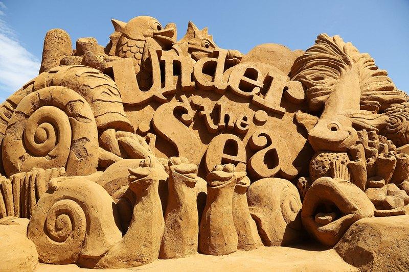 Песчаная скульптура «Under the Sea» («В глубинах моря»). Автор Кевин Кроуфорд (Kevin Crawford). Франкстон, Австралия. Фото: Graham Denholm/Getty Images