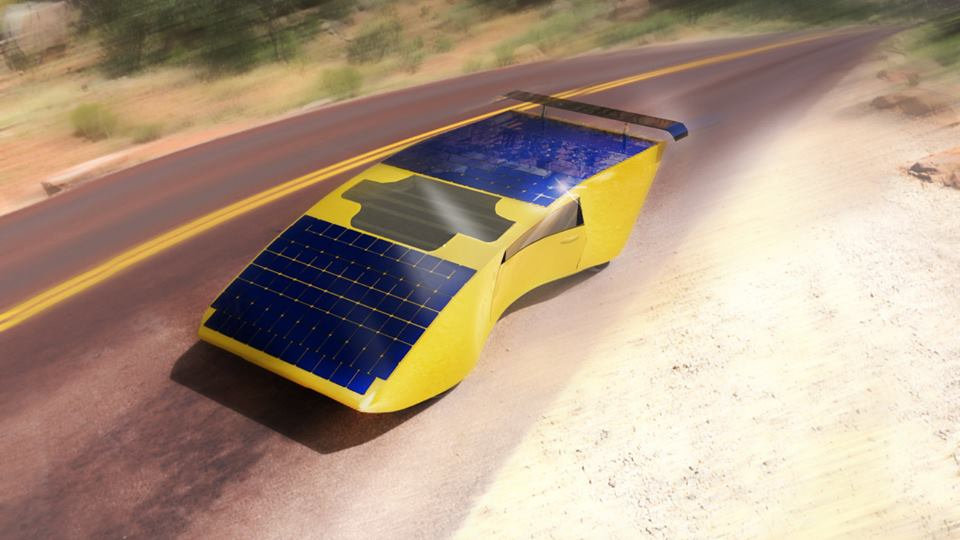 Создан автомобиль с солнечными панелями на крыше