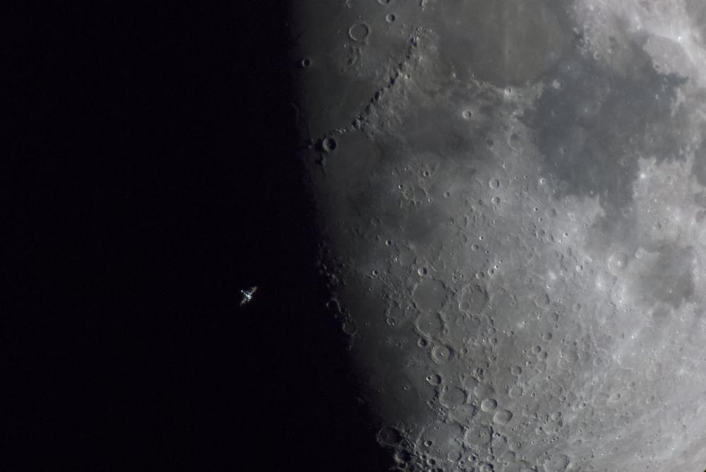 «ISS Terminator Moon». Друге місце в номінації «Our Moon». Фото: Daniel Fernandez Caxete/Royal Observatory Greenwich