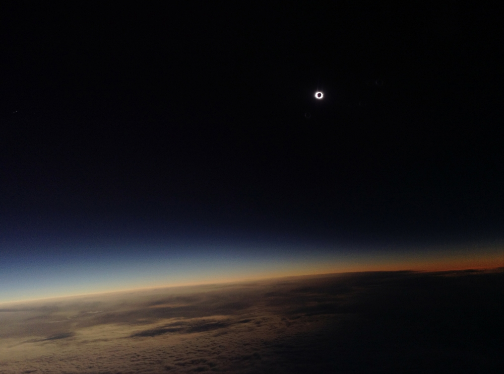 «Total Solar Eclipse over North Atlantic Ocean». Висока оцінка в номінації «Young Astronomy Photographer of the Year». Фото: Philippe Rowland/Royal Observatory Greenwich