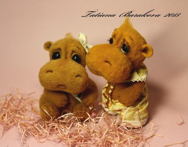 Авторські іграшки з вовни Тетяни Баракової. Фото: vk.com/club12663059