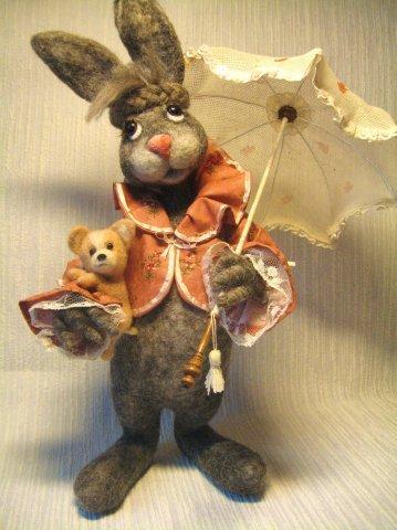 Авторские игрушки из шерсти Татьяны Бараковой. Фото: vk.com/club12663059