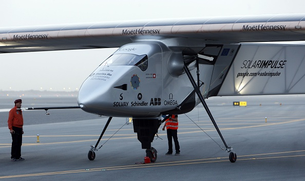 Solar Impulse-2. Фото: MOHAMMED MAHJOUB/AFP/Getty Images