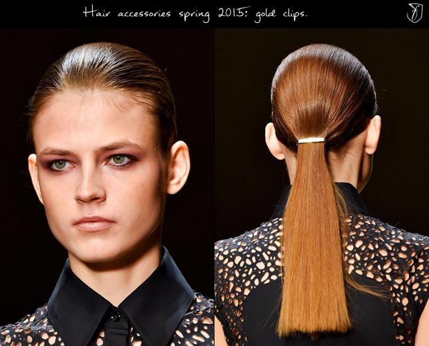 Заколки в стиле минимализма Guy Laroche. Фото: fashionising.com