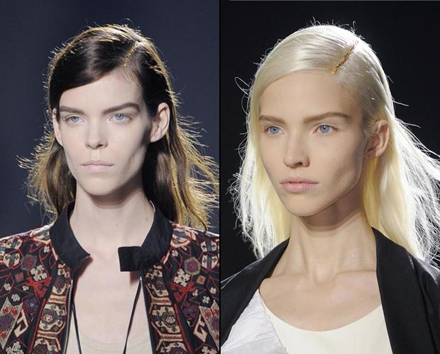 Золотое украшение для волос. Фото: fashionising.com