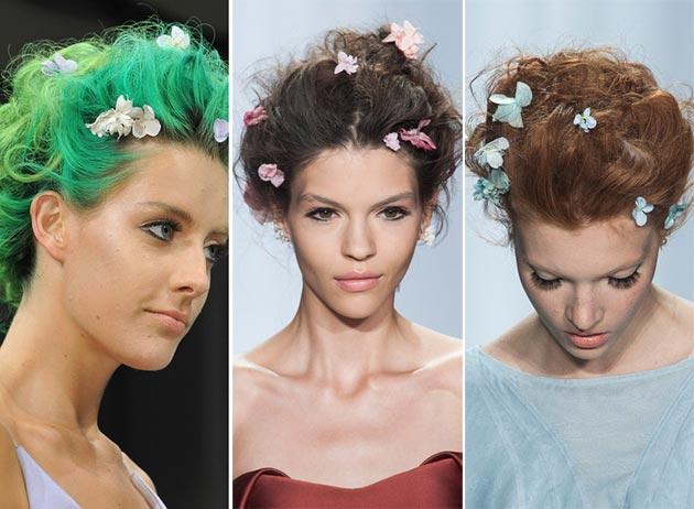Цветочные булавки для волос Zac Posen. Фото: fashionisers.com