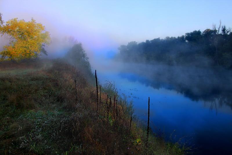 Досвітній туман. Фото: Валерія Мірошко