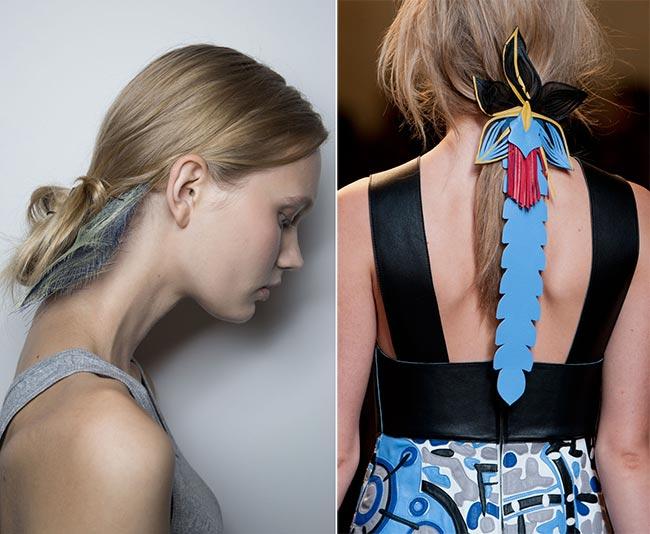 Кожаные заколки в виде пальм от Fendi. Фото: fashionisers.com