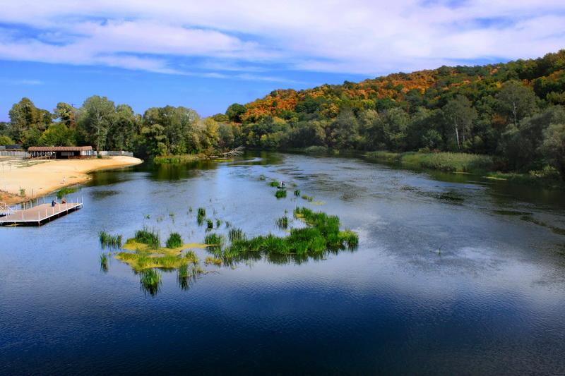 Река Донец в районе Святых гор. Фото: Валерия Мирошко
