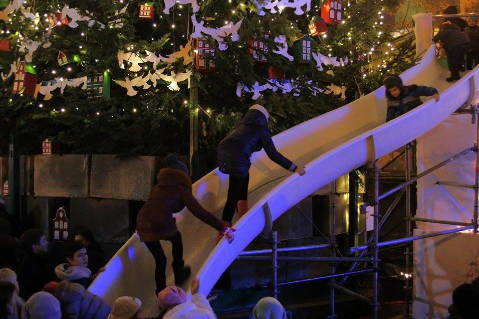 Мероприятие у главной новогодней ёлки Украины, Киев, Софийская площадь, 2015. Фото: EpochTimes.com.ua