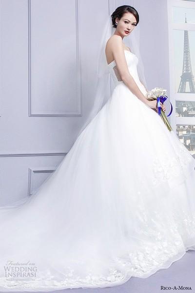 Свадебные платья от Rico-A-Mona. Фото: weddinginspirasi.com