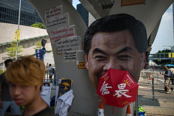 Прихильники демократичних реформ збираються на вулиці, яка веде до урядового комплексу. 30 вересня 2014 року, Гонконг. Фото: Anthony Kwan/Getty Images