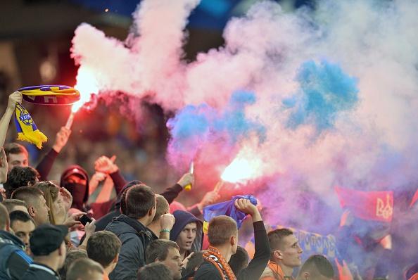 Матч другого туру групового турніру Ліги чемпіонів УЄФА між донецьким «Шахтарем» і «Порту», що пройшов 30 вересня 2014 року на Арені Львів. Фото: GENYA SAVILOV/AFP/Getty Images