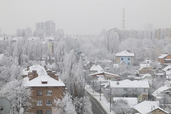 Зима, Київ. Фото: EpochTimes.com.ua