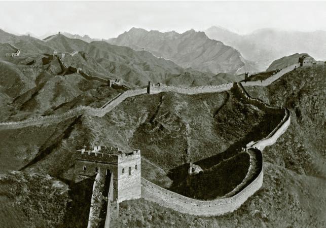 Вид на Цзіньшаньлінську частину Великої Китайської стіни, знято в 1920-ті роки. Фото: Collection of Peter Shay