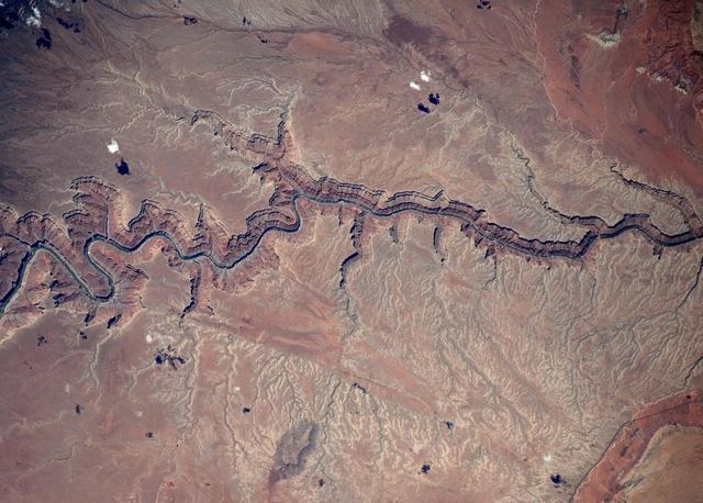 Большой каньон, США. Фото: Tim Peake/ESA/NASA