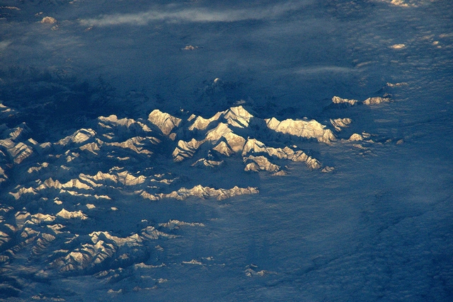 Еверест. Фото: Tim Peake/ESA/NASA