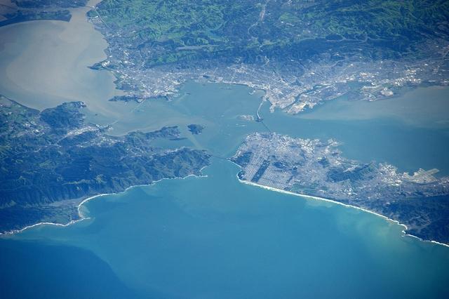 Сан-Франциско. Фото: Tim Peake/ESA/NASA