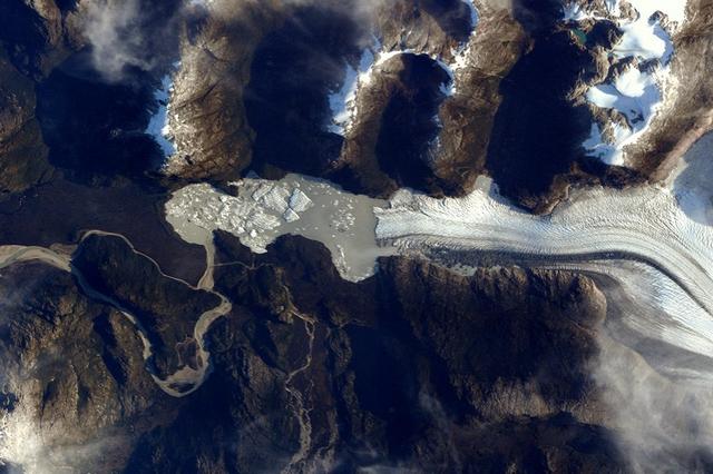 Ледники Патагонии. Фото: Tim Peake/ESA/NASA