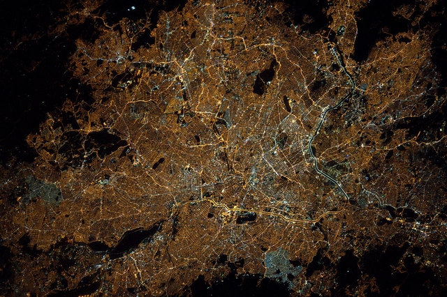 Сан-Паулу, Бразилія. Фото: Tim Peake/ESA/NASA