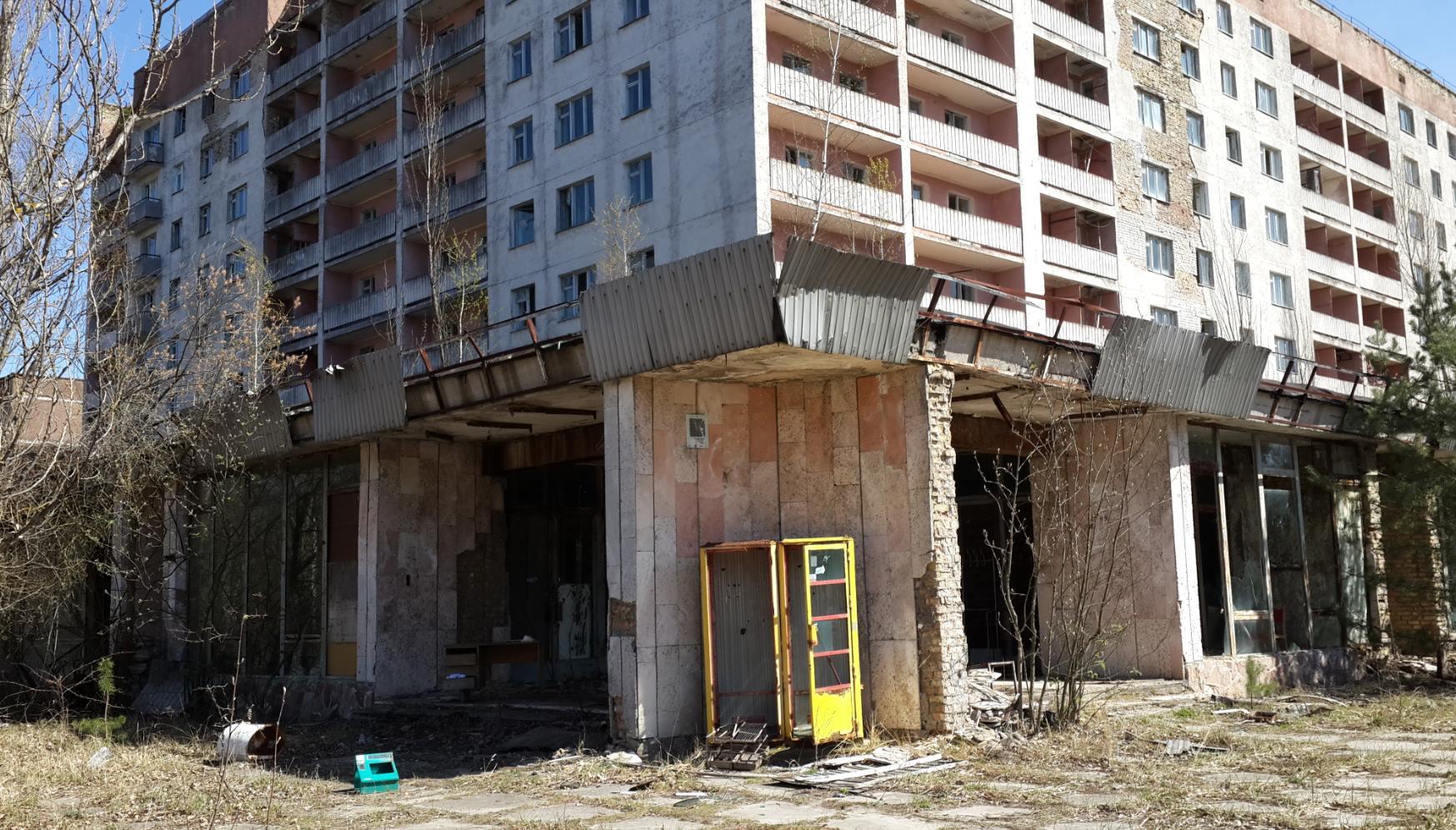 Заброшенный город внутри зоны. Фото: facebook.com/chernobyl360VR