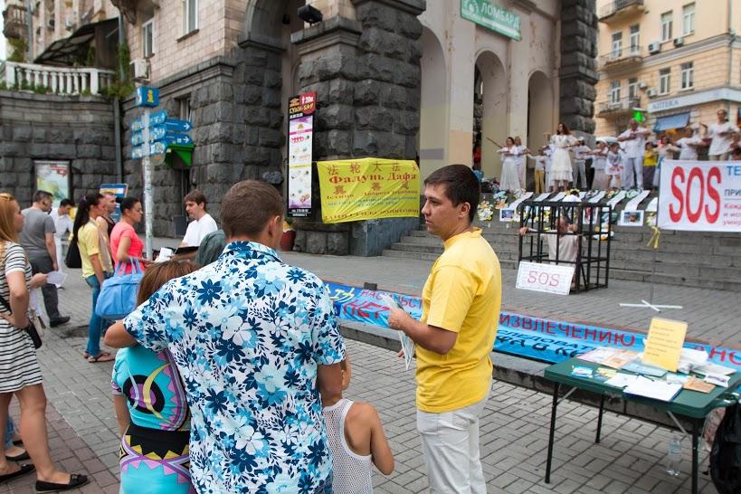 Кияни виступили проти репресій своїх однодумців у Китаї, 20 липня 2015 р. Фото: EpochTimes.com.ua