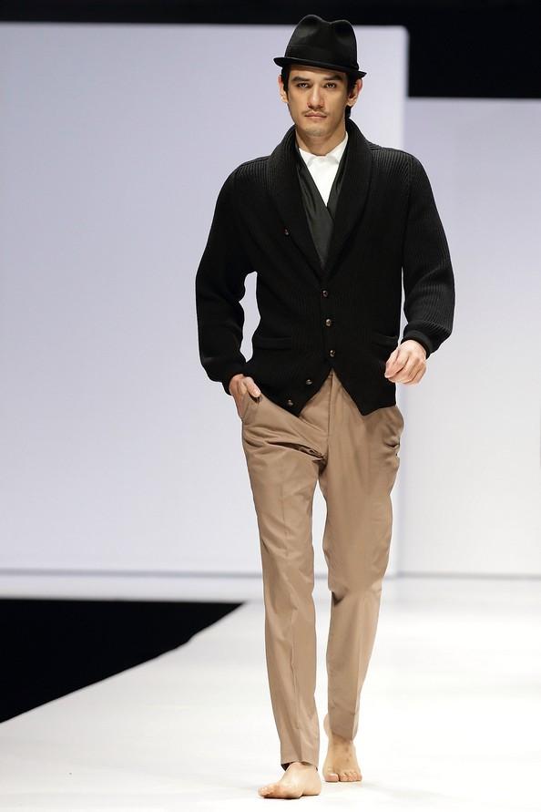 Чоловіча колекція осінь-зима 2012/13 від SONZIO і Spencer Hart на Singapore Men's Fashion Week. Фото: Suhaimi Abdullah/Getty Images