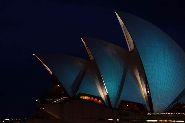 Музыкальный световой фестиваль в Сиднее. Фото: Lisa Maree Williams/Getty Images