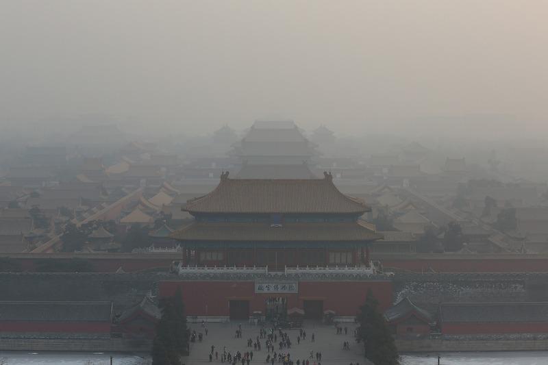 Пекин, Китай, 16 января. Сильный смог опустился на столицу. Фото: Feng Li/Getty Images