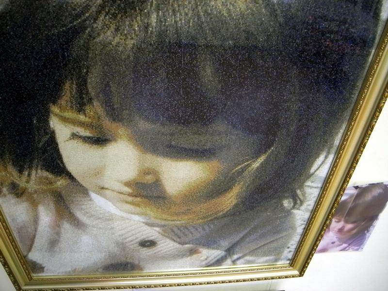 Вышитый портрет внучки Сонечки, автор А.Семенов. Фото: Алла Лавриненко/The Epoch Times Украина