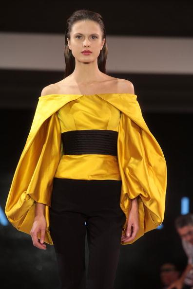 Презентація колекції від Ігоря Чапуріна на шоу моди у Ташкенті, узбекистан.Фото Yves Forestier/Getty Images