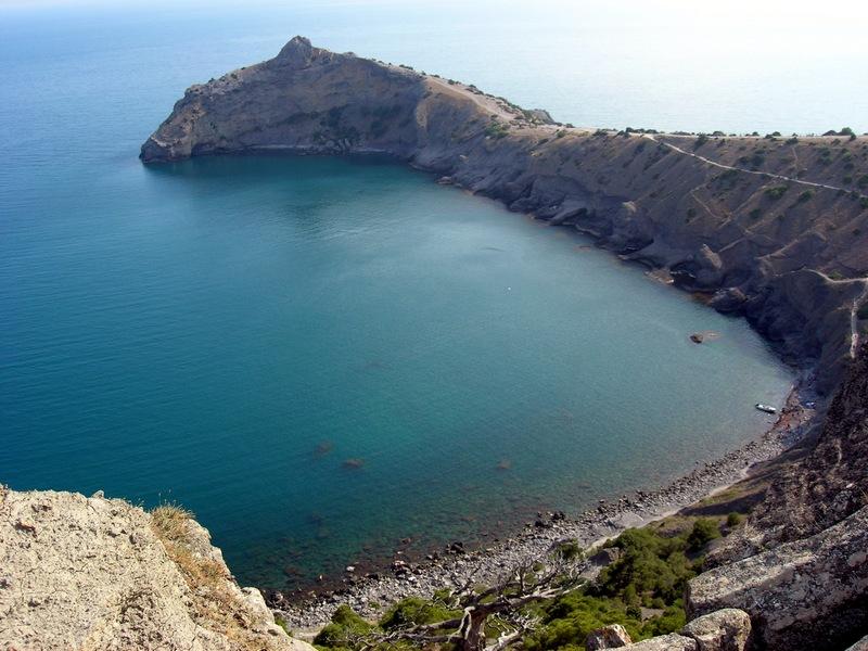 Крым, Новый свет, вид на Синюю бухту с вершины Орла. Фото: Алла Лавриненко/Великая Эпоха