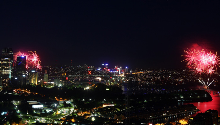 Сидней, Австралия. В этом году сиднейский фейерверк претендует на звание самого большого в мире. Фото: Don Arnold/Getty Images