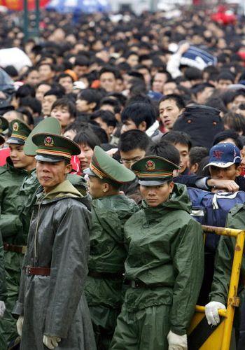 Вокзал г.Гуанчжоу. Фото: AFP