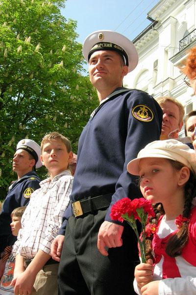 Парад в честь Дня Победы прошел в Севастополе. Фото: Алла Лавриненко/The Epoch Times