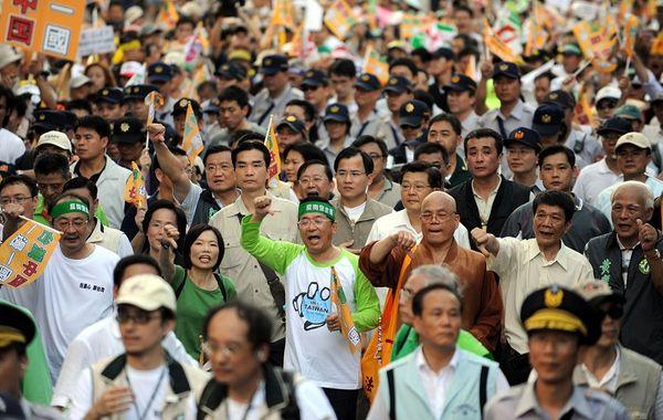 Шествие против некачественных продуктов китайского производства. 25 октября. Тайвань. Фото: ЦАН
