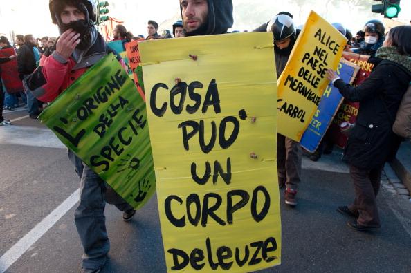 У Римі тривають акції протесту.Фото:VINCENZO PINTO/Getty Images