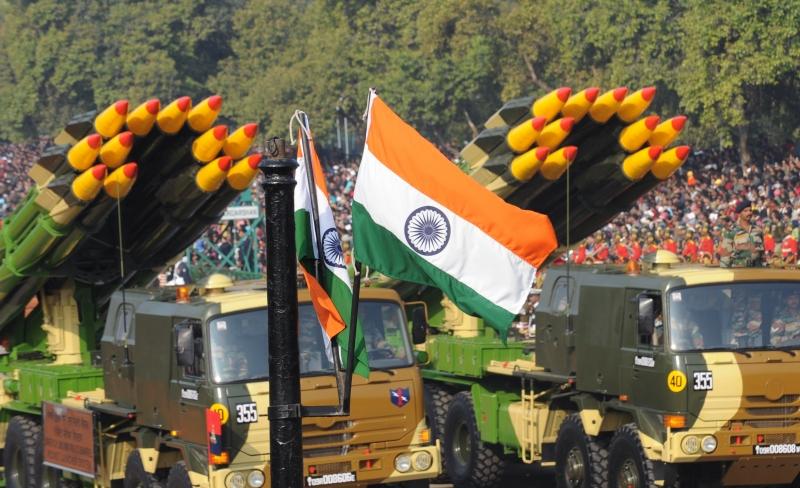 Реактивные системы залпового огня «Смерч» на параде в Нью-Дели. Фото: RAVEENDRAN/AFP/Getty Images