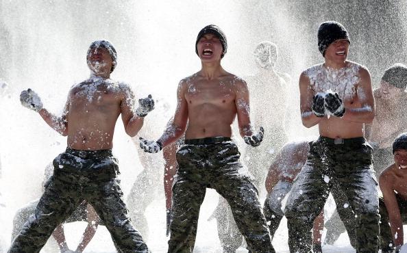 Солдаты Южной Кореи провели ежегодные зимние учения. Фото:Jeon Heon-Kyun-pool/Getty Image