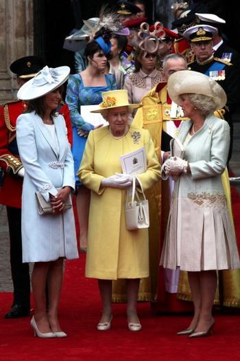 Кэрол Миддлтон, королева Англии Елизаветы II и и Камилла, герцогиня Корнуольская. Фото: Chris Jackson/Getty Images