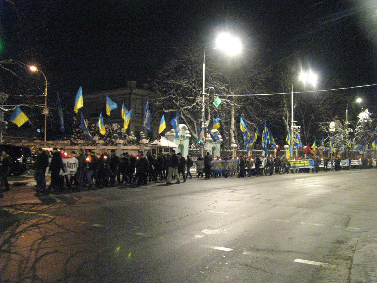 В ході брало участь до півтисячі чоловік. Фото: Аліна Маслакова/The Epoch Times Україна