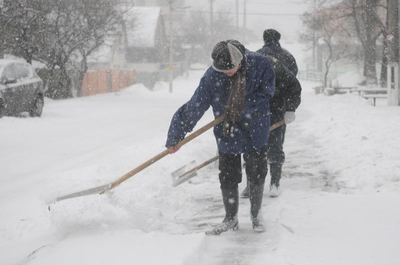Киев накрыл снегопад 22 марта 2013 года. Фото: Владимир Бородин/Великая Эпоха