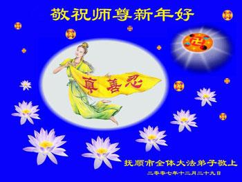 Все ученики Фалуньгун г.Фушун поздравляют уважаемого Учителя с Новым годом!