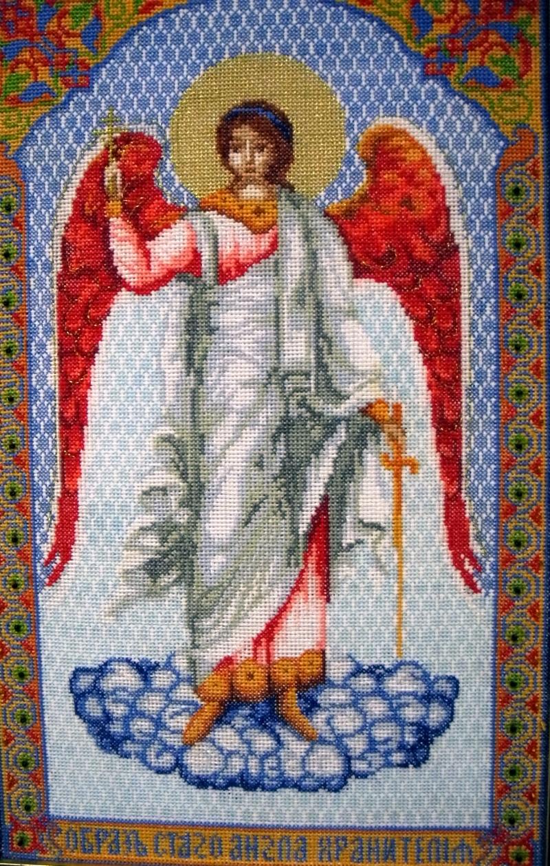 Вышивка «Ангел Хранитель», автор И.Рознатовский. Фото: Алла Лавриненко/The Epoch Times Украина
