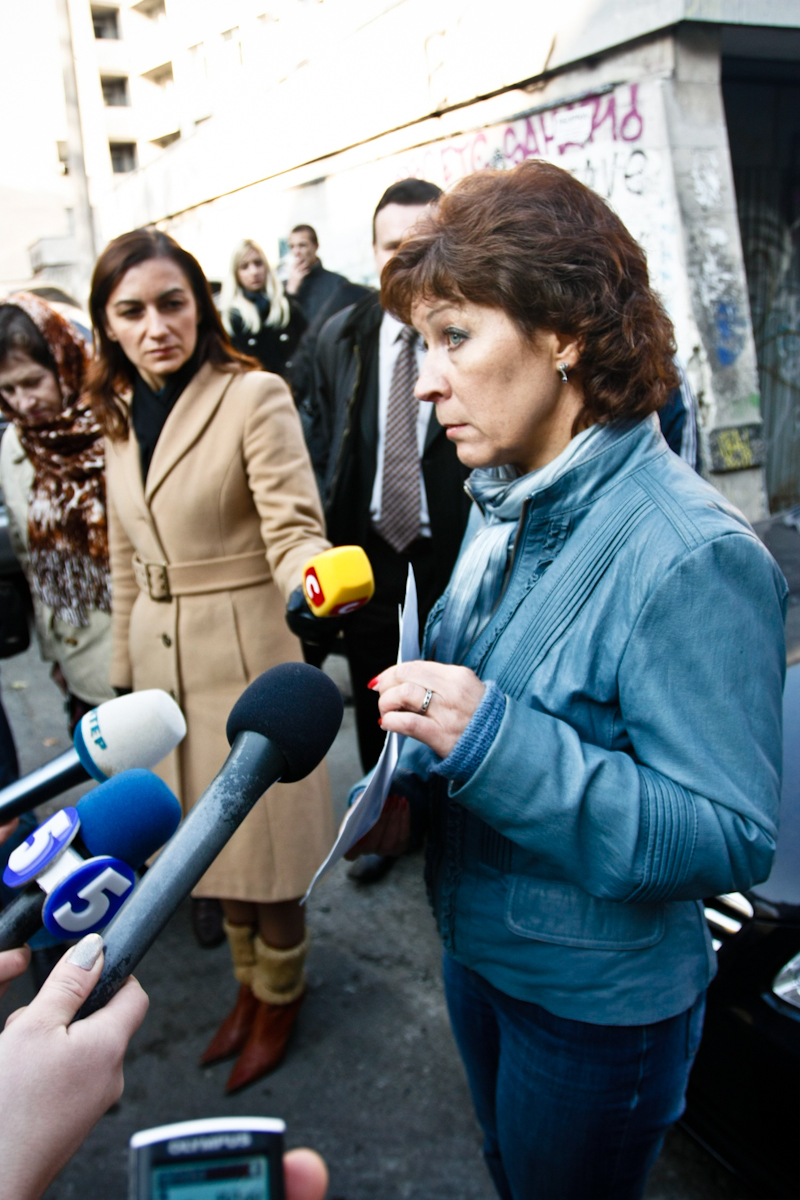 Ирина Никифорова — председатель инициативной группы местных жителей, ратующих за остановку незаконного строительства. Фото: Евгений Довбуш/The Epoch Times Украина